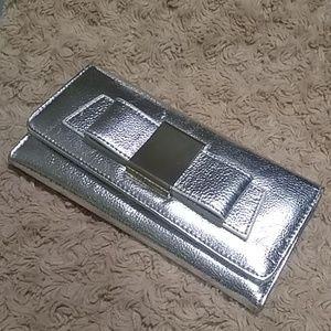 Ivanka Trump silver trifold wallet #Bag100